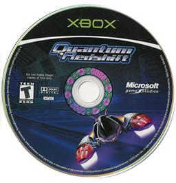 Artwork on the CD for Quantum Redshift on the Microsoft Xbox.