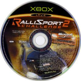 Artwork on the CD for RalliSport Challenge 2 on the Microsoft Xbox.