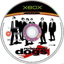 Artwork on the CD for Reservoir Dogs on the Microsoft Xbox.