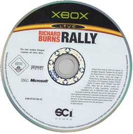 Artwork on the CD for Richard Burns Rally on the Microsoft Xbox.