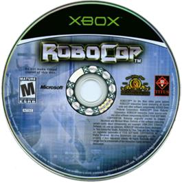 Artwork on the CD for Robocop on the Microsoft Xbox.