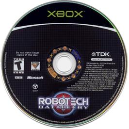 Artwork on the CD for Robotech: Battlecry (Collector's Edition) on the Microsoft Xbox.