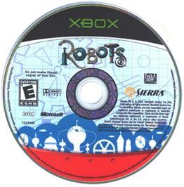 Artwork on the CD for Robots on the Microsoft Xbox.
