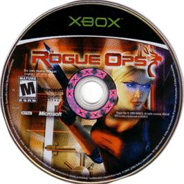 Artwork on the CD for Rogue Ops on the Microsoft Xbox.