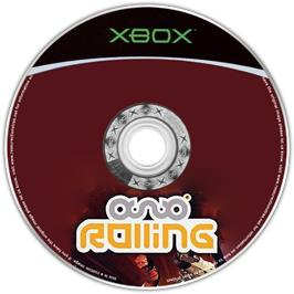 Artwork on the CD for Rolling on the Microsoft Xbox.