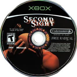 Artwork on the CD for Second Sight on the Microsoft Xbox.