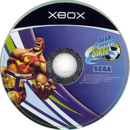 Artwork on the CD for Sega Soccer Slam on the Microsoft Xbox.