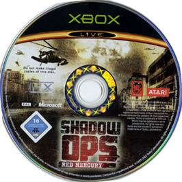 Artwork on the CD for Shadow Ops: Red Mercury on the Microsoft Xbox.