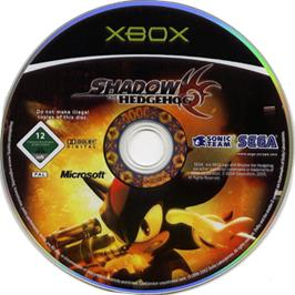 Artwork on the CD for Shadow the Hedgehog on the Microsoft Xbox.