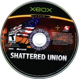 Artwork on the CD for Shattered Union on the Microsoft Xbox.
