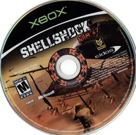 Artwork on the CD for Shellshock: Nam '67 on the Microsoft Xbox.