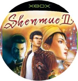 Artwork on the CD for Shenmue 2 on the Microsoft Xbox.
