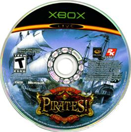 Artwork on the CD for Sid Meier's Pirates on the Microsoft Xbox.