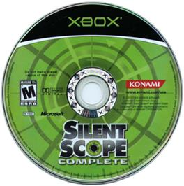 Artwork on the CD for Silent Scope Complete on the Microsoft Xbox.