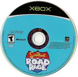Artwork on the CD for Simpsons: Road Rage on the Microsoft Xbox.