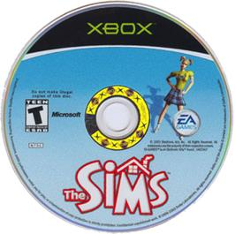 Artwork on the CD for Sims on the Microsoft Xbox.