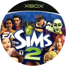 Artwork on the CD for Sims 2 on the Microsoft Xbox.