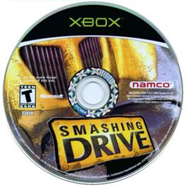 Artwork on the CD for Smashing Drive on the Microsoft Xbox.