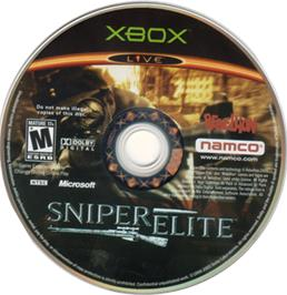 Artwork on the CD for Sniper Elite: Berlin 1945 on the Microsoft Xbox.