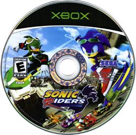 Artwork on the CD for Sonic Riders on the Microsoft Xbox.