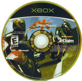Artwork on the CD for Speed Kings on the Microsoft Xbox.