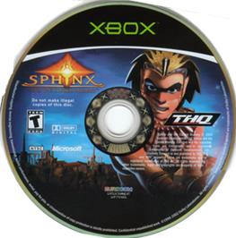 Artwork on the CD for Sphinx and the Cursed Mummy on the Microsoft Xbox.