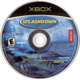 Artwork on the CD for Splashdown on the Microsoft Xbox.
