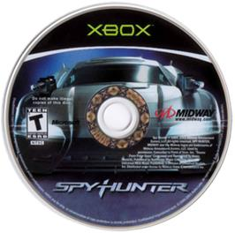 Artwork on the CD for Spy Hunter: Nowhere to Run on the Microsoft Xbox.