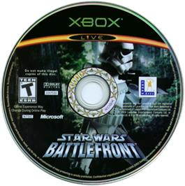 Artwork on the CD for Star Wars: Battlefront on the Microsoft Xbox.