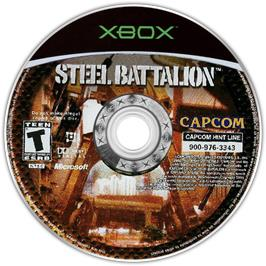 Artwork on the CD for Steel Battalion on the Microsoft Xbox.