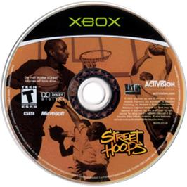 Artwork on the CD for Street Hoops on the Microsoft Xbox.