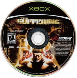 Artwork on the CD for Suffering on the Microsoft Xbox.