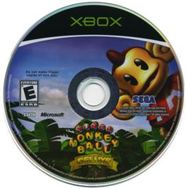 Artwork on the CD for Super Monkey Ball Deluxe on the Microsoft Xbox.