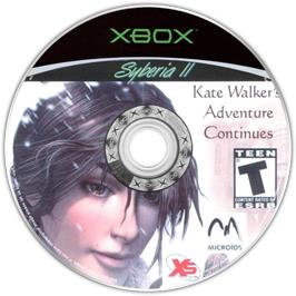 Artwork on the CD for Syberia 2 on the Microsoft Xbox.