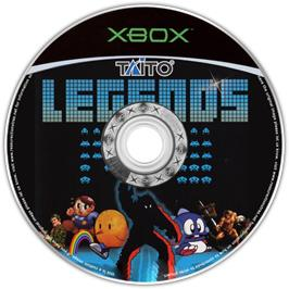 Artwork on the CD for Taito Legends on the Microsoft Xbox.