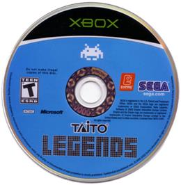 Artwork on the CD for Taito Legends 2 on the Microsoft Xbox.