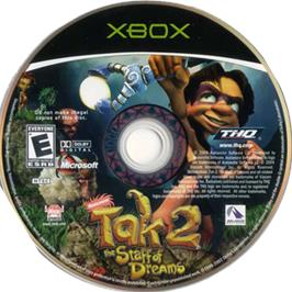 Artwork on the CD for Tak 2: The Staff of Dreams on the Microsoft Xbox.