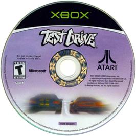 Artwork on the CD for Test Drive on the Microsoft Xbox.