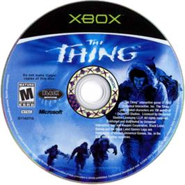 Artwork on the CD for Thing on the Microsoft Xbox.