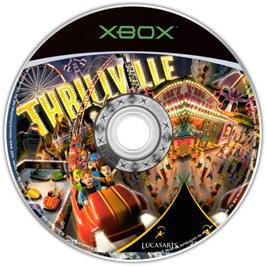 Artwork on the CD for Thrillville on the Microsoft Xbox.