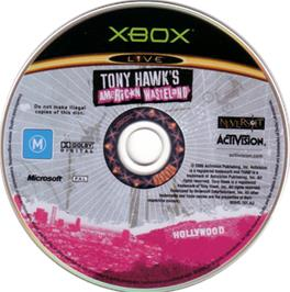 Artwork on the CD for Tony Hawk's American Wasteland on the Microsoft Xbox.