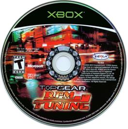 Artwork on the CD for Top Gear RPM Tuning on the Microsoft Xbox.