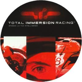 Artwork on the CD for Total Immersion Racing on the Microsoft Xbox.