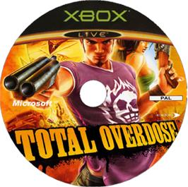 Artwork on the CD for Total Overdose: A Gunslinger's Tale in Mexico on the Microsoft Xbox.