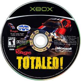 Artwork on the CD for Totaled on the Microsoft Xbox.