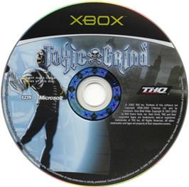 Artwork on the CD for Toxic Grind on the Microsoft Xbox.