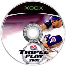 Artwork on the CD for Triple Play 2002 on the Microsoft Xbox.