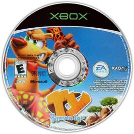 Artwork on the CD for Ty the Tasmanian Tiger on the Microsoft Xbox.