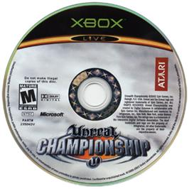 Artwork on the CD for Unreal Championship on the Microsoft Xbox.