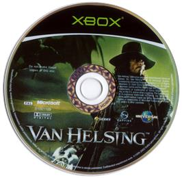 Artwork on the CD for Van Helsing on the Microsoft Xbox.